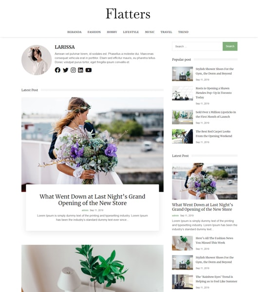bootstrap 4 blog template