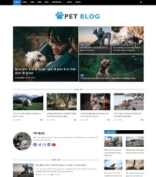 bootstrap pet blog template