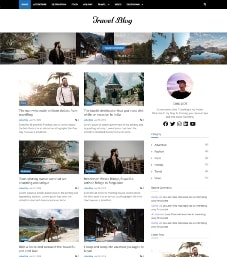 bootstrap 4 travel blog